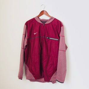 Nike•Maroon Windbreaker Jacket